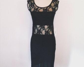 Women's Stainglass II Dress - Black / Lace