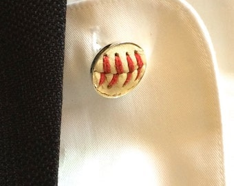 Played game ball MLB baseball San Diego Padres accessory sports fanatic hand crafted cuff links