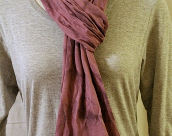 Light purple organic cotton jersey tie dye scarf camo marbled design shaded wrap stretchy