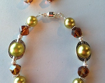 Olive You Bracelet and Earrings