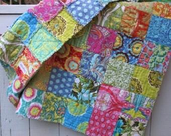 rag quilt FULL - Amy Butler custom - reversible