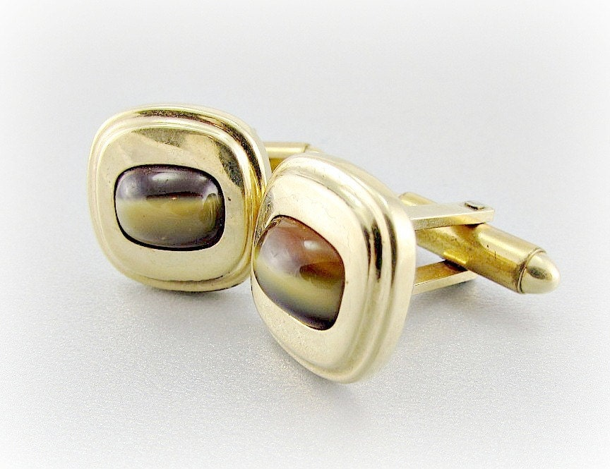 vintage mens jewelry designer kreisler tigers eye