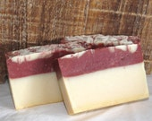 Berry Wine Scented Luxury Cold Process Rustic Silky Soap with Aloe Vera