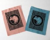 Pastel Baby Rat Block Print Sew On Punk Patch
