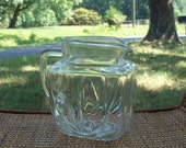 Pitcher Star Bottom Clear Glass Early Mid Century Farm Kitchen Find
