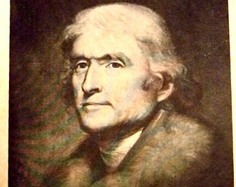 Vintage Biography of Thomas Jefferson by Historian Herman S. Frey, Historical Photographs, Gift For Him or Her, Gift for Students, Christmas