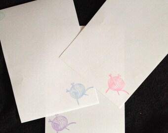 Wool/ Yarn Knitting Letter/ Writing Set