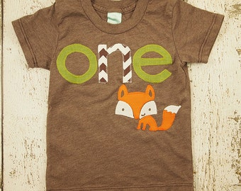 Fox shirt woodland themed birthday shirt toddler tee forest animal boys girls tshirt chevron