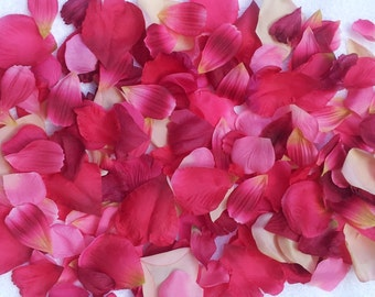 200 Silk Rose Petals Red Rose Burgundy Pink Peach Wedding Flower Decorations Party Decorations Bridal