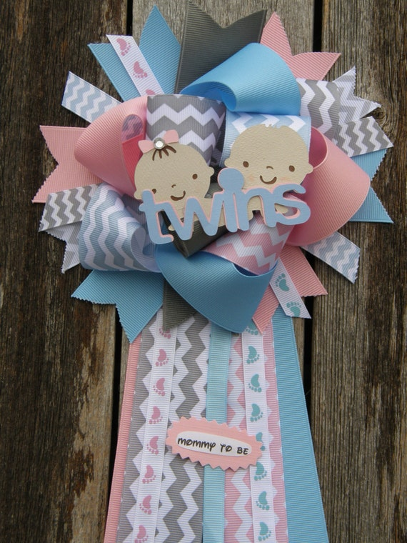 twins baby shower mum twins baby shower by bonbow on etsy