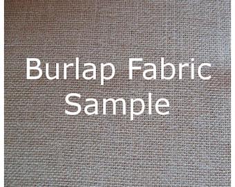 Burlap Fabric Sample - Burlap Fabric Swatch