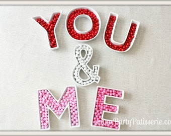 Ceramic Letter Dishes birthdays, weddings, reunions, sorority, parties, corporate events, showers