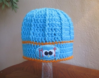 READY TO SHIP - 1 to 3 Year Size - Hoot Owl Crochet Beanie