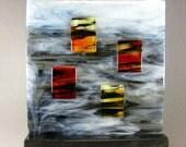 Art Glass Modern Contemporary Sculpture Windows In The Clouds Artist Signed