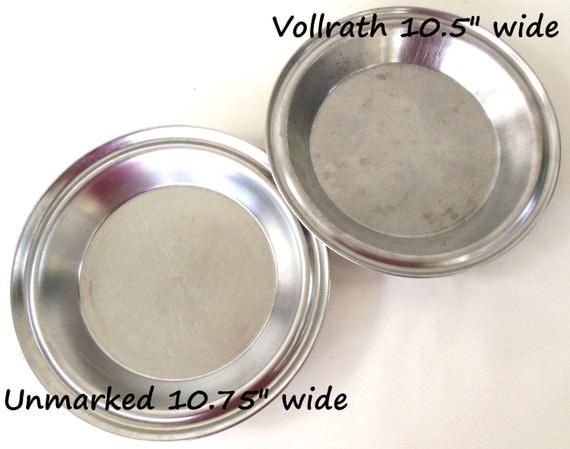 Stainless Pie Pans Juice Saver No Drip Rim 9 Vollrath