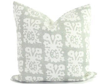 Schumacher Jakarta in Slate Decorative Pillow Cover 18x18, 20x20 or lumbar pillow - Throw Pillow - Accent Pillow