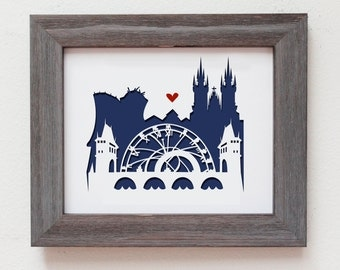 Prague - Czech Republic.  Personalized Gift or Wedding Gift