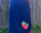 Perfect Summer Strawberry Wrap Skirt 1970s