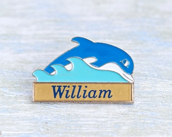 William Name Badge - Jumping Dolphin Brooch