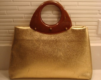 60s gold-lame purse