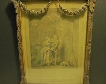 Very Old Print in Decorative Frame