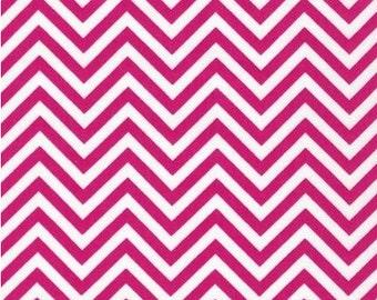 SALE Anne Kelle Chevron Remix in Hot Pink forRobert  Kaufman Fabrics (1 yard) SALE
