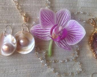 Blister Pearl Earrings Elegant