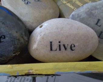 Live Engraved Energy River Rock