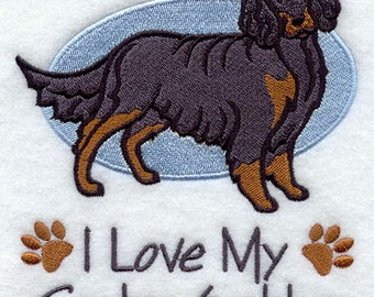I Love My Gordon Setter Embroidered Flour Sack Hand/Dish Towel