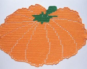 Pumpkin Doily ,Halloween Decoration,  Thanksgiving Decor