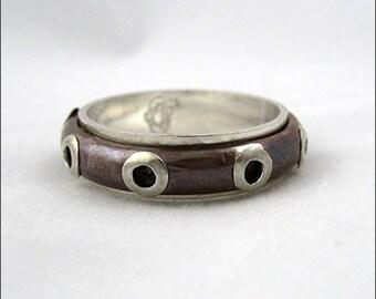 Steampunk Rivet Ring