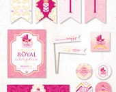 Royal Princess Baby Shower - Instant Download PRINTABLE Party Kit (Pink & Gold)
