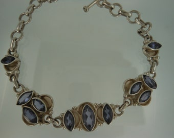 Marque Iolite and Sterling Silver Bracelet