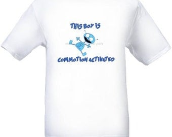 Cotton Shirt With Blue Robot and Funny Text for boys