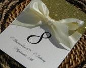 Gold Glitter Table Number reserved for olivierjami