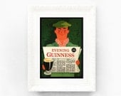 7x10 Guinness Print Original Advertisement Book Plate Ireland Brewerania Advert Pint Gilroy Illustration