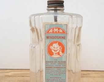 "Vintage ""AMR Windowshine"" Bottle"
