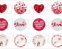 Made to Match Gymboree M2MG Valentine 2014 bottlecap image sheet