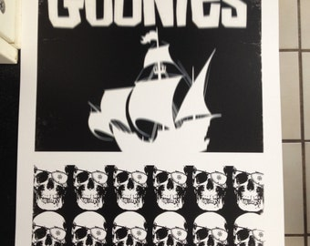 The Goonies movie poster print