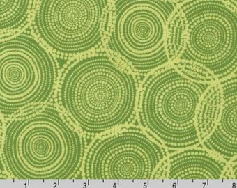 SALE - Quill - Circles Olive Leaf Green by Valori Wells from Robert Kaufman