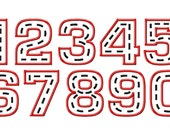 Racer Road Applique Numbers - Machine Embroidery Design - 4 Sizes