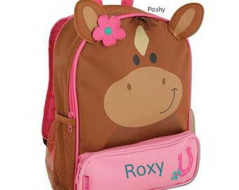 Personalized Backpack  Stephen Joseph Sidekicks Toddler Horse