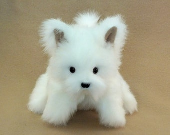 White Puppy Dog Hand Puppet