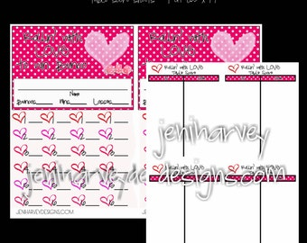 Valentine's Bunco Score Set