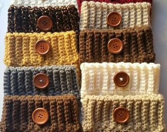 Sale! 12 Boot Cuffs Women's Crochet Boot Toppers, Boot Socks, Leg Warmers (12.99 each)