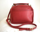 Vintage Coach Red Leather Lunch Box Bag 9991 Made in the United States