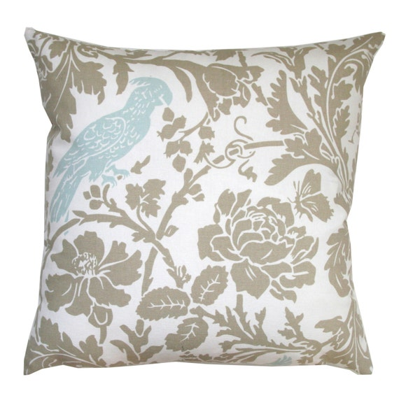 Decorative Throw Pillow Powder Blue Barber by ModernalityHomeDecor