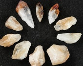 Raw Citrine Points & Nuggets, Undrilled, 3 pcs, Energetic Gemstones