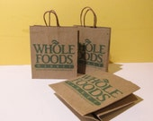 Set of 3 1:6 scale grocery store shopping bags (printed mini)