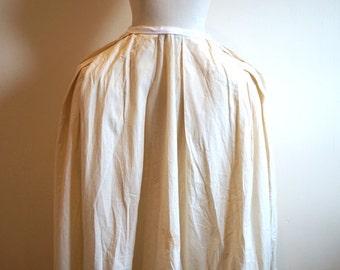 Custom Fit 18th Century Womens Cotton Petticoat. Rococo Georgian Style. Chevron Pleating. Underwear